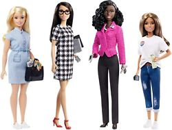 Barbie Career Of The Year President Campaign Team Four Doll Set Mattel 2020 New