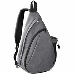 OutdoorMaster Sling Bag Small Crossbody Backpack For Men amp;amp Women Gray $31.93
