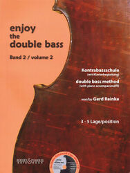 Enjoy The Double Bass Volume 2 3-5 Position Double Bass Method With Piano Acco