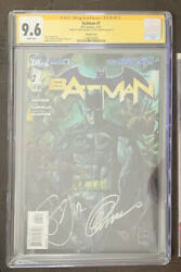 Batman 1 New 52 Van Sciver Variant Cgc 9.6 Signed By Snyder And Capullo + 4 13