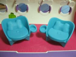 2014 Littlest Pet Shop Jumbo Jet Airplane Fest Replacement Parts-2 Chairs Seats