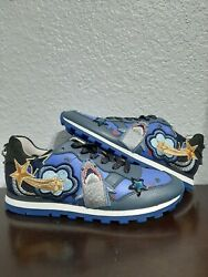 AUTHENTIC Coach Womans sharks patches designer training sneakers size 5.5 $150.00