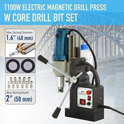 Electric Magnetic Drill Press 2 Boring 2700lbf Magnet Force Tapping 1-1/2hp