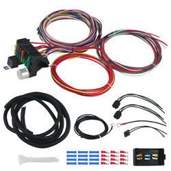 Universal Wire Harness Kit Fit For Hot Rod Street Rod 12 Circuit Wiring
