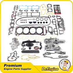 For 85-95 Toyota Pickup 4runner Timing Chain Cover Kit W/ Water Pump Head Gasket