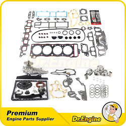 Water Pump Timing Chain Kit Piston Ring Head Gasket Set For 85-95 Toyota 4runner