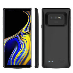 9h Tempered Glass Hd+5000mah Full Edge Battery Case For Samsung Note 8 Note 9 S9