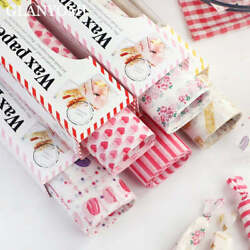 50pcs/lot Wax Paper Food Grade Grease Paper Food Wrappers |wrapping Paper For Br