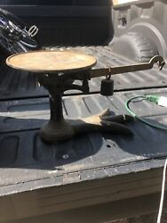 """Vintage Cast Iron Crow Foot Pattern Country Store Weighting Scale 3 Lbs - 20/10"""""""