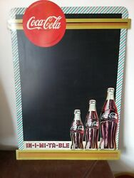 Awesome Vintage Mexican Coca Cola Metal Menu Chalkboard Sign From 50's Htf Rare