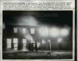 1967 Press Photo Fire Destroyed Part Of Diesel Engine House In New Haven Rr Yard