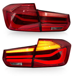 Red Led Tail Lights Sequential Turn Sig. For 12-18 Bmw 3er 3 Series F30 F80