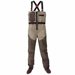 Large King Redington Sonic-pro Hdz Zip Front Breathable Fly Fishing Chest Waders