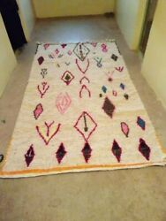 Handmade Authentic Azilal Rug Beni Ourain Moroccan Rug Tapis Moroccan 4and0399 X 8and0392