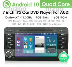 For Audi A4 S4 Rs4 7 Android 9.0 8-core Car Radio Bluetooth Dvd Stereo Gps Obd2