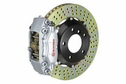 Brembo Gt Brake Kit Front 2 Pc Drilled Silver Mini Cooper S Hatch R50 R53 02-06