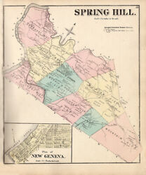 1872 Map Of Spring Hill Township Fayette County Pa New Geneva
