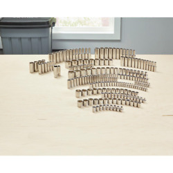 Husky 1/4 In., 3/8 In. And 1/2 In. Drive Socket Set 200-piece