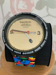 New Swatch X Bape Tokyo Multi Combo Black Big Bold Watch - Collectable Sold Out