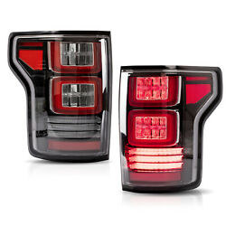 Free Shipping To Pr For 15-20 Ford F-150 Full Led Clear Taillights Red Turn Sig.