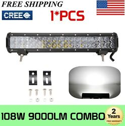 17inch 108w 4d Led Light Bar Combo Offroad Driving 4wd Truck Atv 120w 126w 180w