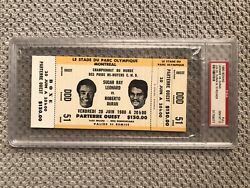 🌟psa Gem Mint 10🌟 1980 Boxing Sugar Ray Leonard Vs Roberto Duran Full Ticket