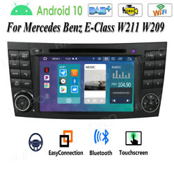 Android For Mercedes Benz Cls/g/e Class W211 W219 Car Stereo Dvd Radio Gps Nav R