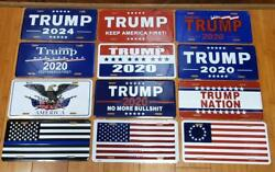 24 Tags Usa 45th President Trump License Plate Collection Rare 2020 Aluminum 1