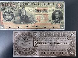 Columbia Proof Banknote Front/back P 215s