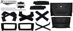 Blue Stitch Leather Covers For Defender 90 83-06 Interior Re Upholstery Top Kit