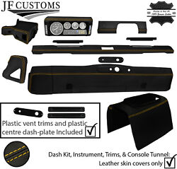 Yellow Stitch Leather Covers For Defender 90 83-06 Interior Upholstery Mid Kit