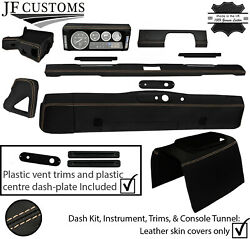 Beige Stitch Leather Covers For Defender 90 83-06 Interior Upholstery Mid Kit