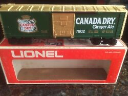Lionel Trains 7802 Canada Dry Ginger Ale Boxcar - New