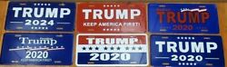 6 Tags Usa 45th President Trump License Plate Collection Rare 2020 Aluminum 1