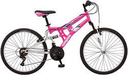 Pink Mountain Bike Kids Ride Lightweight Strong 21 Speed School