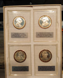 36 Franklin Mint .925 Silver Proof Presidential Coin-medal Mint New Condition