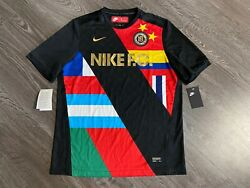 Nike F.c. 2018 World Cup Soccer Jersey Football Flags 886872-012 Menandrsquos L New