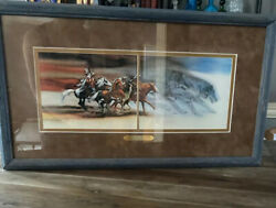 Bev Doolittle Wolves Of The Crow-indian-native American-horses-art