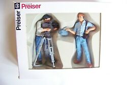 Preiser G 124 Scale Film Crew Figures With Camera  57104 Ships From Chicago