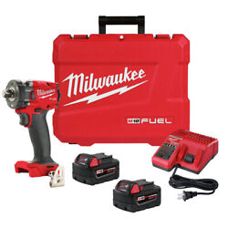 Milwaukee 2855-22 M18 Fuel Li-ion Bl 1/2 In. Impact Wrench Kit 5 Ah New