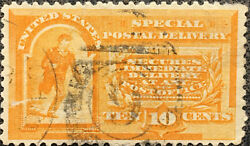 Scott E3 Us 1893 10 Cent Special Delivery Messenger Postage Stamp