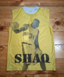 Rare Vintage Shaquille Oneal Dunk Man All Over Print Jersey 12/14 Or Adult Small