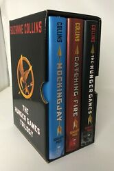 Lot 3 The Hunger Games Trilogy Box Set Suzanne Collins Catching Fire Mockingjay