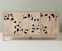 Wooden Hand Carved Light Modern Sideboard And Buffet