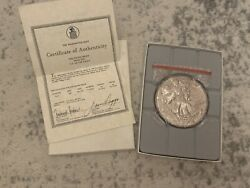 Washington Mint 1 Pound 1986 Pure Silver Us Eagle Coin W/ Authentic Certificate