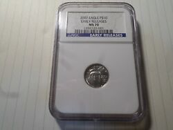 2007 Eagle 9999 Platinum 10 Early Release Ms 70 Graded By Ngc