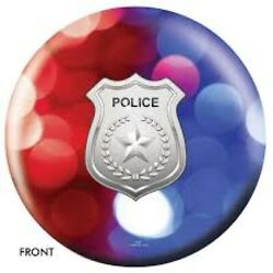 On The Ball Police Dept Red-blue Lights - Bowling Ball Spare