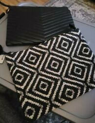 2 Oversized clutch purses $20.00