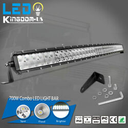 50inch 700w Curved Led Light Bar Spot Flood Combo Driving Offroad Atv Ute 4wd 54