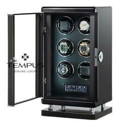 Watch Winder For 6 Automatic Watches With Bio Metric Technology By Tempus